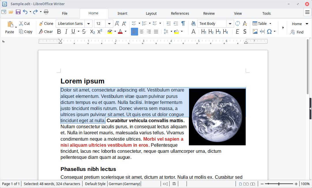 LibreOffcie Writer