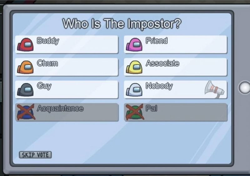 Imposter di Among Us