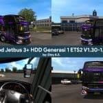 Mod Jetbus 3+ HDD Gen 1 ETS2 V1.30-1.38 by Diny A.S.