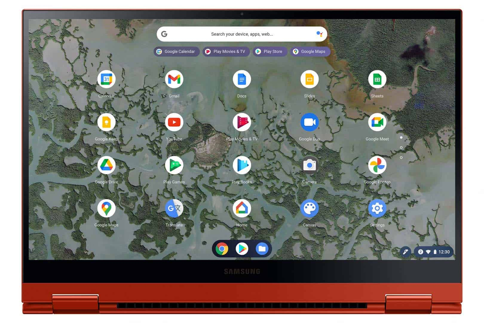 Tampilan Layar Galaxy Chromebook 2