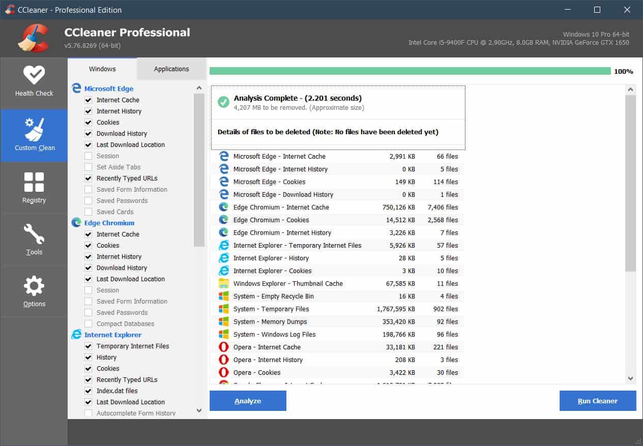 Custom Clean CCleaner Pro v5.76