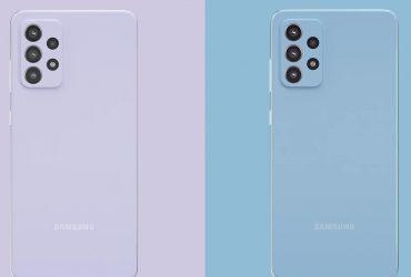 Tampilan Galaxy A52 dan A72