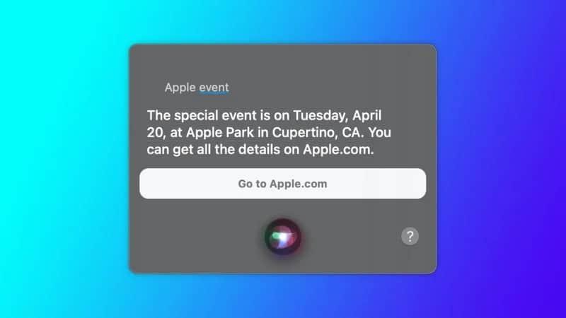 Bocoran Apple Event Spring Loaded dari Siri