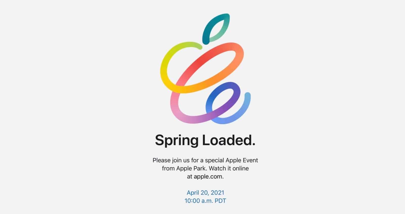Undangan Apple Event Spring Loaded