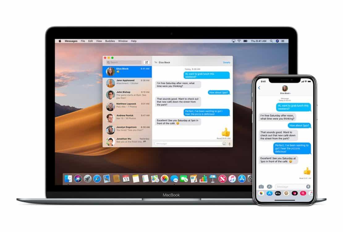 iMessage di iPhone dan Macbook