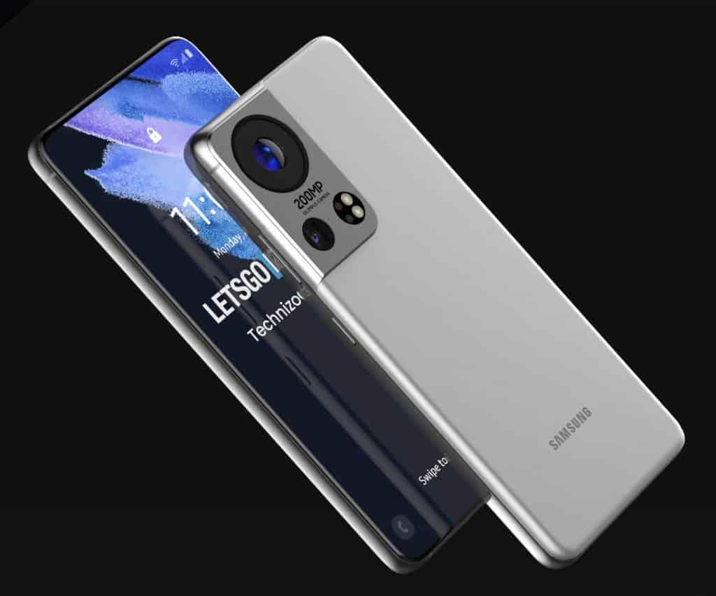 Render 3D Galaxy S22 Ultra