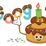 Doodle Ulang Tahun Google Ke-23