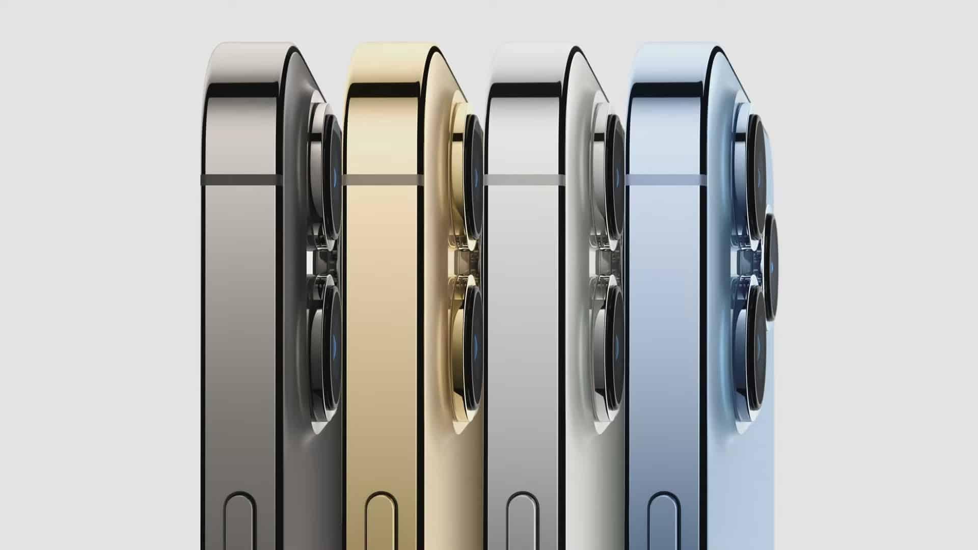 Tampilan Samping dari iPhone 13 Pro
