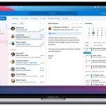 Antarmuka dari Outlook di Office 2021